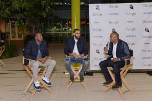 David Drummond moderates Q&A with Andre Iguodala and Javale McGee