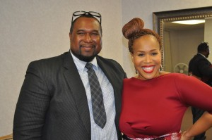 Fred with Tina Campbell