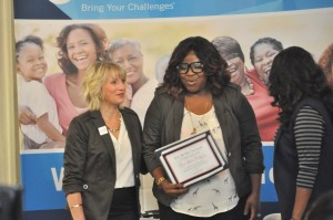 """Cora Jakes-Coleman is honored with the """"What Leading Looks Like"""" award"""