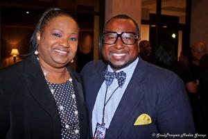 Fred with Teresa Jordan (The Prayzefest Gospel Network)