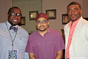 Fred with Smokie Norful and Pastor Parish Lowery